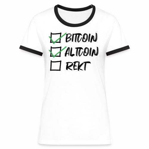 CryptoLoco - CheckList - T-shirt contrasté Femme
