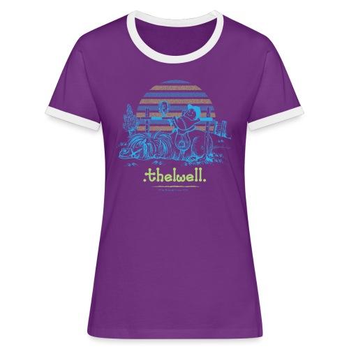 Thelwell Cartoon Pony Sieg - Frauen Kontrast-T-Shirt