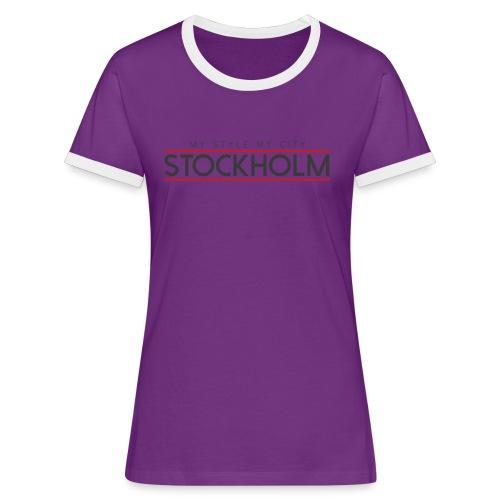 MY STYLE MY CITY STOCKHOLM - Women's Ringer T-Shirt