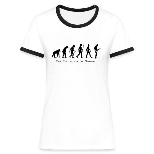 The Evolution Of Guitar - Camiseta contraste mujer