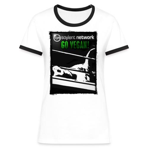 01_t_co4c_h - Frauen Kontrast-T-Shirt