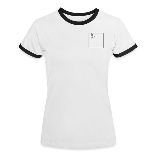 De Selectie - HOME (WHITE) - Vrouwen contrastshirt