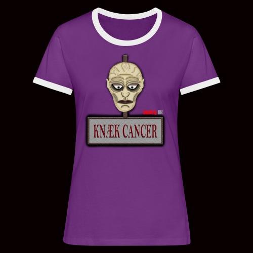 Knæk Cancer Kollektion ! - Dame kontrast-T-shirt