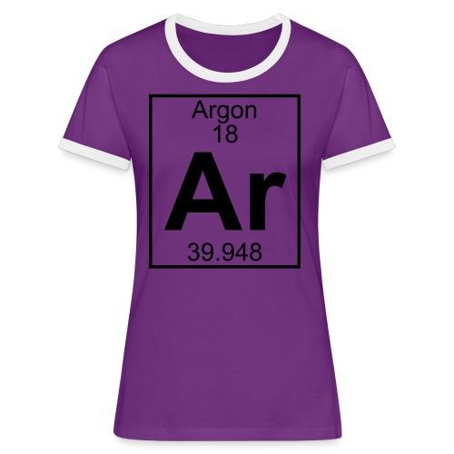 Argon (Ar) (element 18) - Women's Ringer T-Shirt