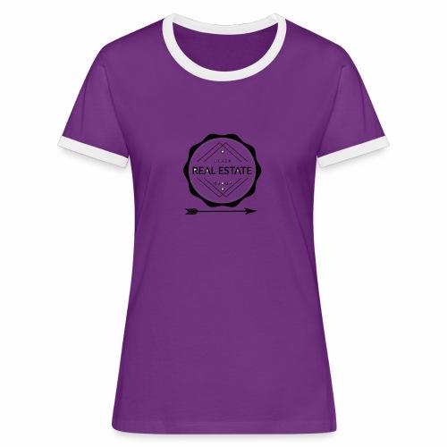 REAL ESTATE. - Camiseta contraste mujer