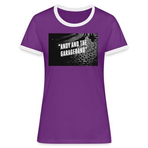 Black and White - Kontrast-T-skjorte for kvinner