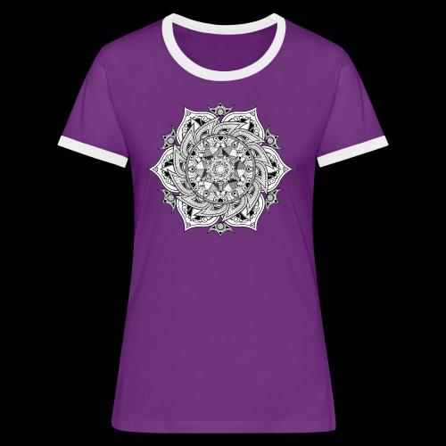 Mandala - Maglietta Contrast da donna