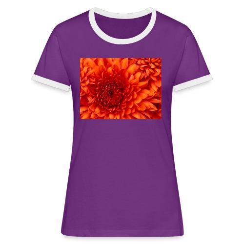 Chrysanthemum - Maglietta Contrast da donna
