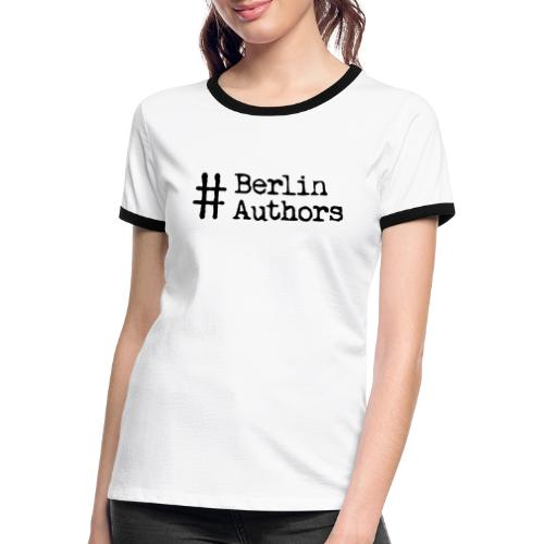 BerlinAuthors Logo Black - Frauen Kontrast-T-Shirt