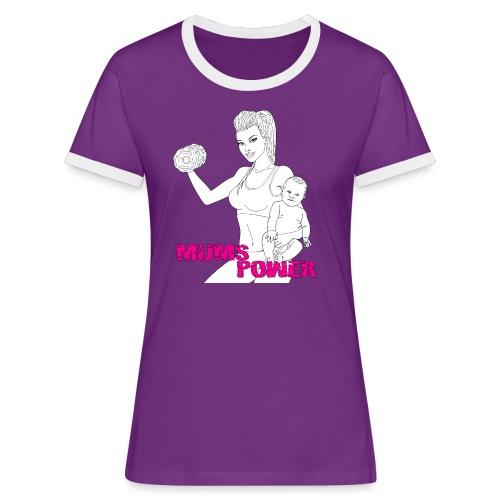 MUMS POWER - Camiseta contraste mujer