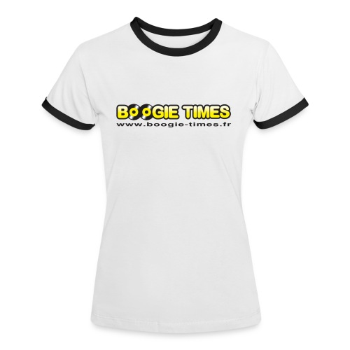 BOOGIE TIMES CLASSIC ts white - Women's Ringer T-Shirt