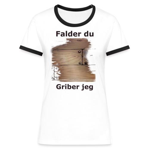 Gulvet Griber - Dame kontrast-T-shirt