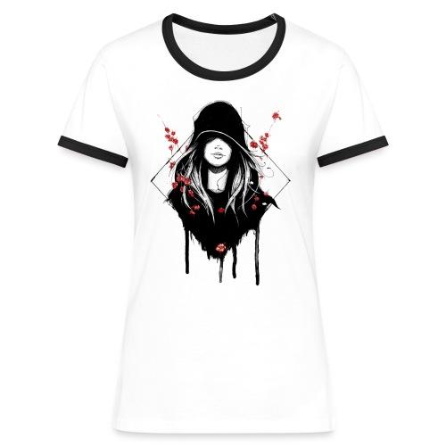 Cover Schwarz Rot Trans - Frauen Kontrast-T-Shirt