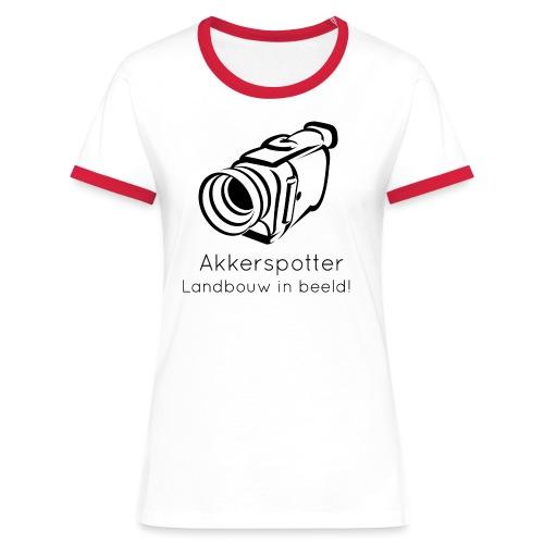 Logo akkerspotter - Vrouwen contrastshirt