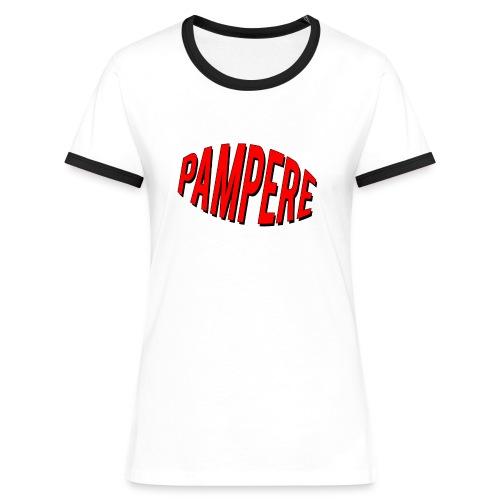 pampere - Koszulka damska z kontrastowymi wstawkami