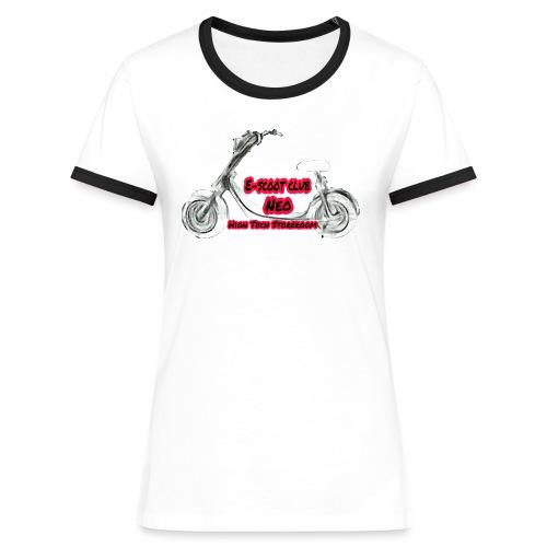 Neorider Scooter Club - T-shirt contrasté Femme