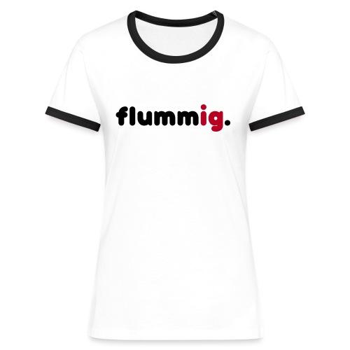 FLUMMIG. - Kontrast-T-shirt dam