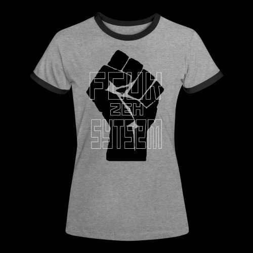 fcuk zeh sytsem - Vrouwen contrastshirt