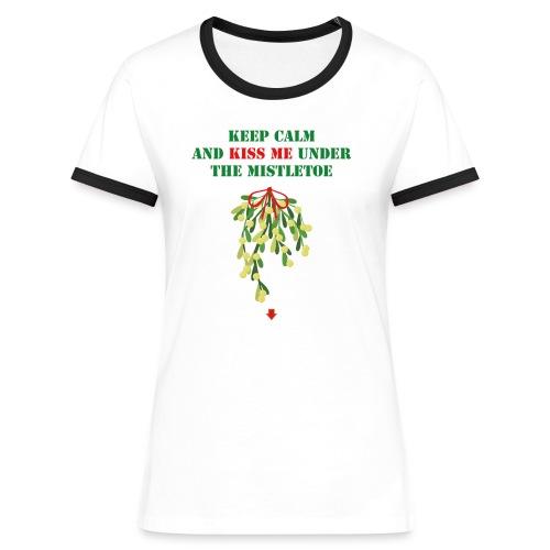 Under the mistletoe - Frauen Kontrast-T-Shirt