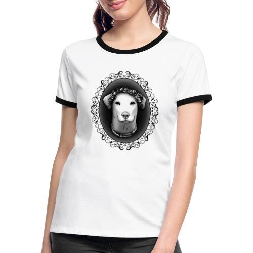 FarbPfoten by Lin - JEANNIE - Frauen Kontrast-T-Shirt