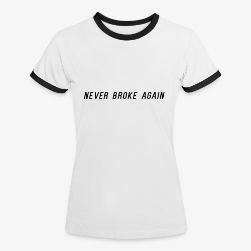 Black logo - T-shirt contrasté Femme