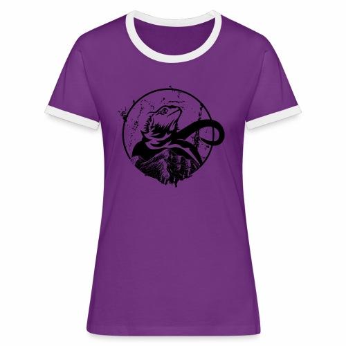 Bearded Dragon - Frauen Kontrast-T-Shirt