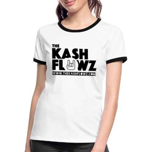 Web Site Logo Black - T-shirt contrasté Femme