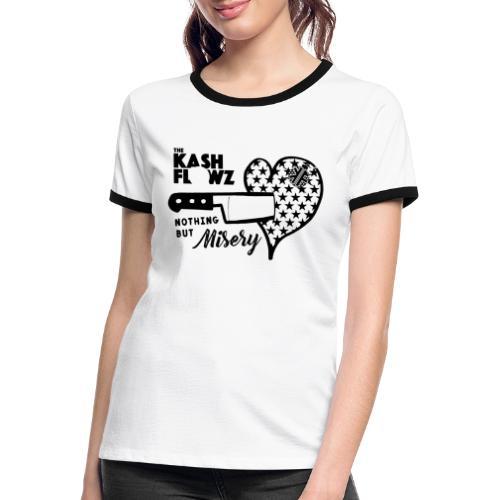 Nothing But Misery Logo - T-shirt contrasté Femme