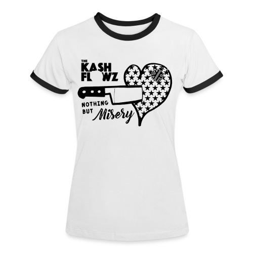 Nothing But Misery Logo - T-shirt contrasté Femme
