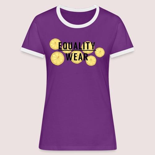 Equality Wear Fresh Lemon Edition - Women's Ringer T-Shirt