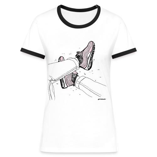 AM97 girlsinair - Koszulka damska z kontrastowymi wstawkami