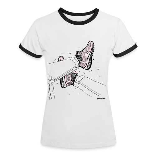 AM97 girlsinair - T-shirt contrasté Femme
