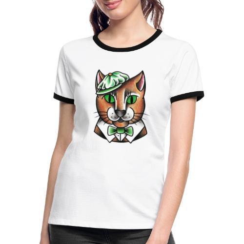 Swingcat - Maglietta Contrast da donna