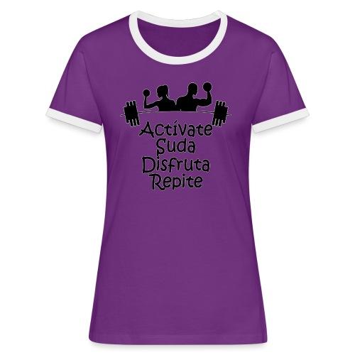 GYM - ACTÍVATE - Camiseta contraste mujer