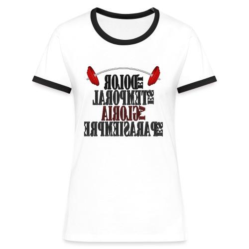 Para el Espejo: GYM - DOLOR TEMPORAL - Camiseta contraste mujer