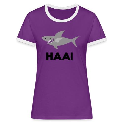 haai hallo hoi - Vrouwen contrastshirt