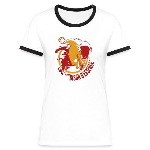BisonLogo2 png - T-shirt contrasté Femme