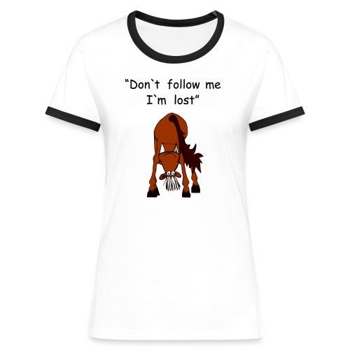 lost - Frauen Kontrast-T-Shirt