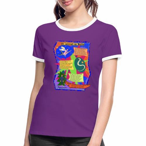 Oh Jemineh au Backe - T-shirt contrasté Femme