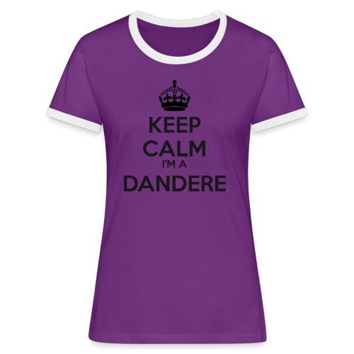 Dandere keep calm - Women's Ringer T-Shirt