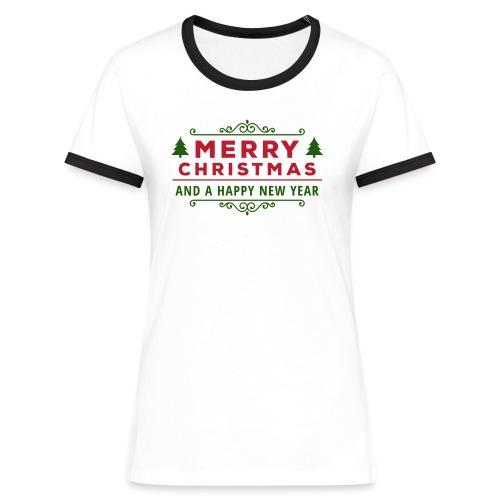 merry christmas, christmas present, christmas tree - Women's Ringer T-Shirt