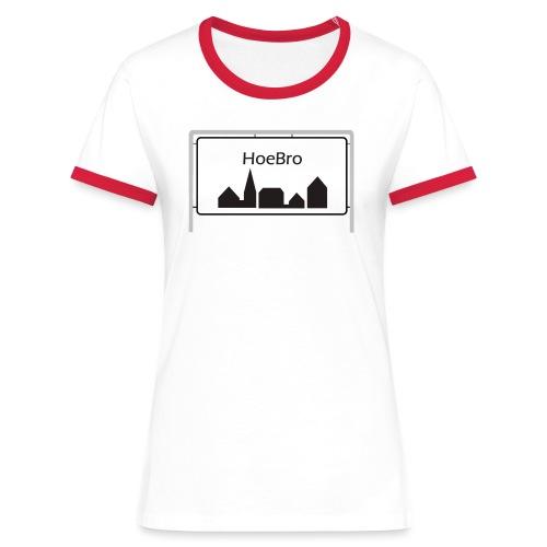 Hoebro - Dame kontrast-T-shirt