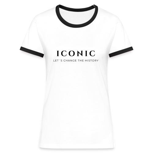 ICONIC - Camiseta contraste mujer