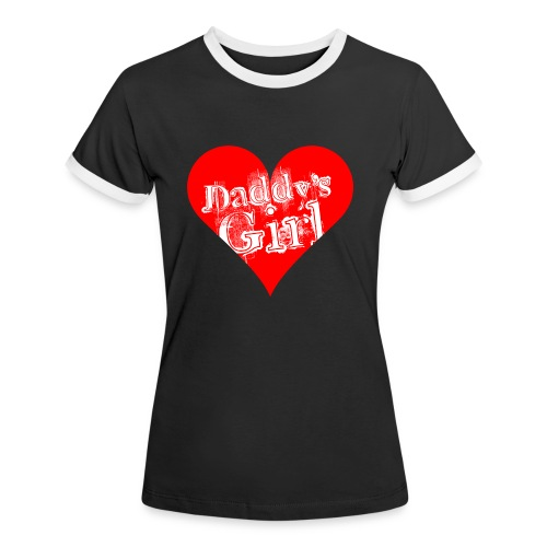 daddys_girl_red - Naisten kontrastipaita