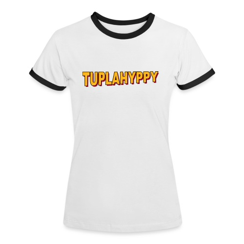 TUPLAHYPPY Essential Collection - Naisten kontrastipaita
