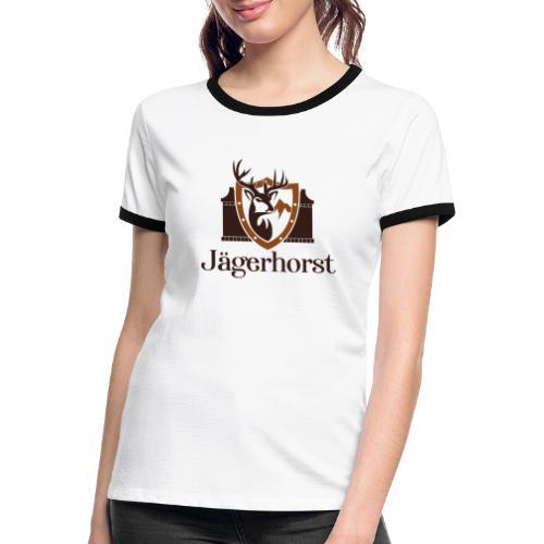 Jägerhorst Logo - Frauen Kontrast-T-Shirt