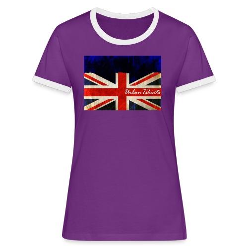 Brittish Flag - Kontrast-T-shirt dam