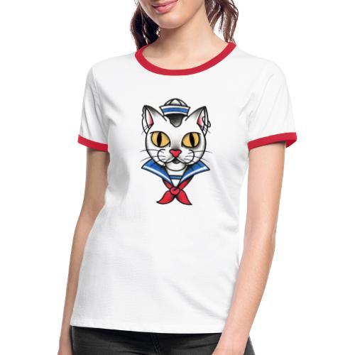Sailorcat - Maglietta Contrast da donna