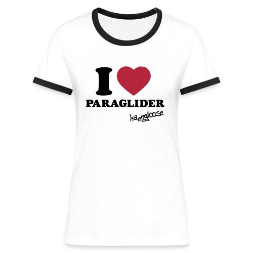 iloveparaglider - Frauen Kontrast-T-Shirt