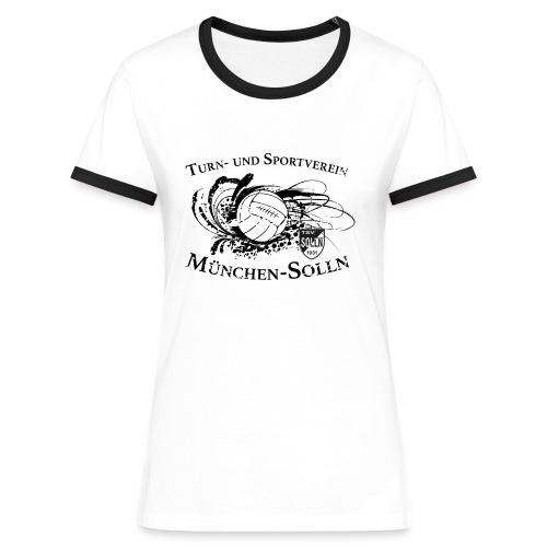solln vintage sign V1 - Frauen Kontrast-T-Shirt
